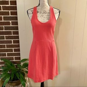J.Crew Women's Coral Tank Dress Racerback Size 8